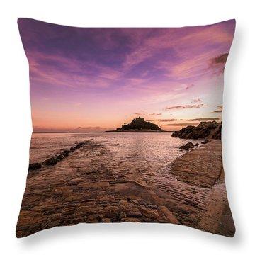 St Michael's Mount - January Throw Pillow