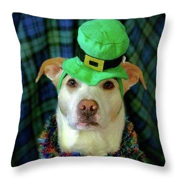 St Pat's Snofie Throw Pillow