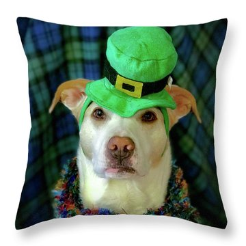 St Pat's Snofie Throw Pillow