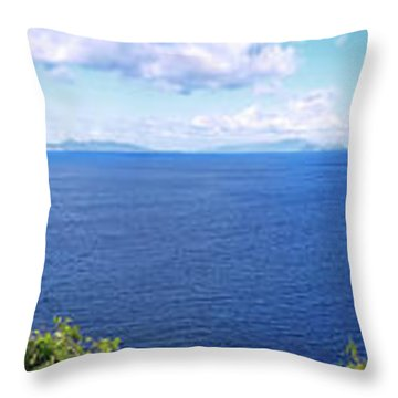 St. Thomas Northside Ocean View Throw Pillow