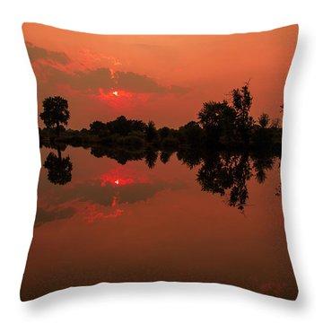 St. Vrain Sunset Throw Pillow
