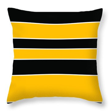 Stacked - Black And Yellow Throw Pillow