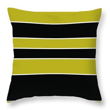 Stacked - Gold, Black And White Throw Pillow