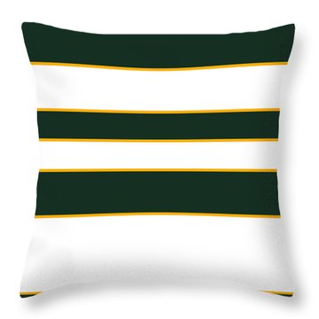 Stacked - Green, White And Yellow Throw Pillow