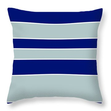 Stacked - Navy, Grey, And White Throw Pillow
