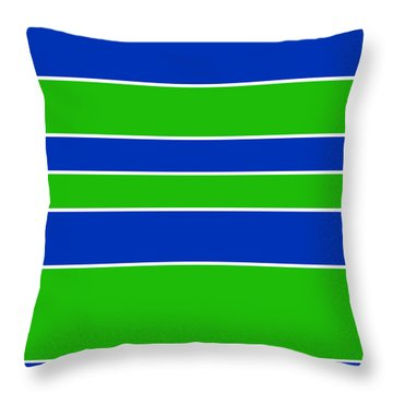 Stacked - Navy, White, And Lime Green Throw Pillow