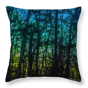 Stained Glass Dawn Throw Pillow