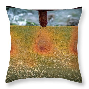 Throw Pillow featuring the photograph Stains by Steve Stanger
