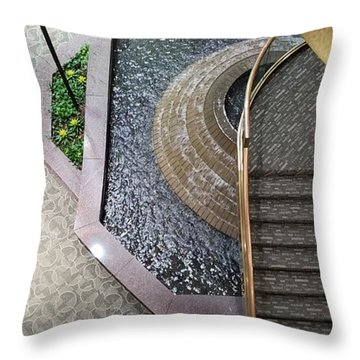 Stairs And Fountain  Throw Pillow