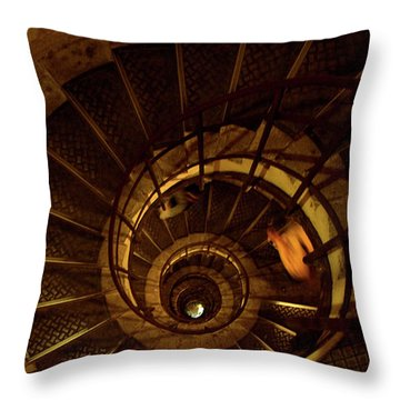 Throw Pillow featuring the photograph Stairs by Edward Lee