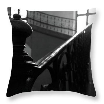 Throw Pillow featuring the photograph Stairs, Handrail by Edward Lee