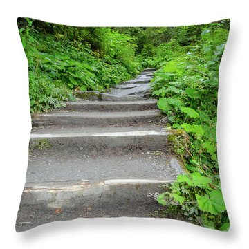 Stairs To The Woods Throw Pillow
