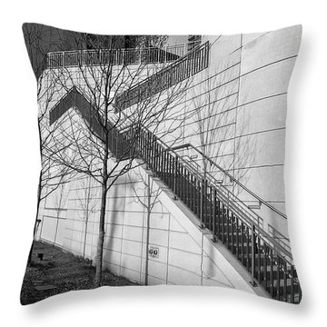 Stairs Up The Side Throw Pillow
