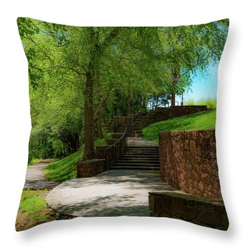 Stairway To Carlyle Throw Pillow