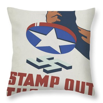 Stamp Out The Axis, 1941  Throw Pillow
