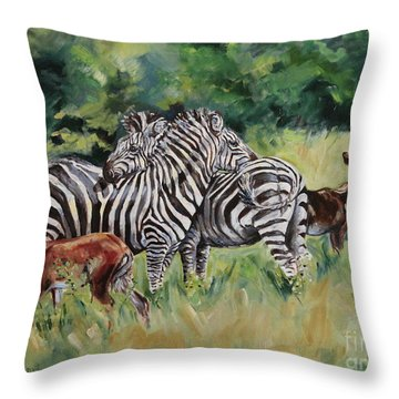 Stand Together Throw Pillow