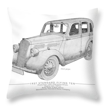 Standard Flying Ten Saloon Throw Pillow