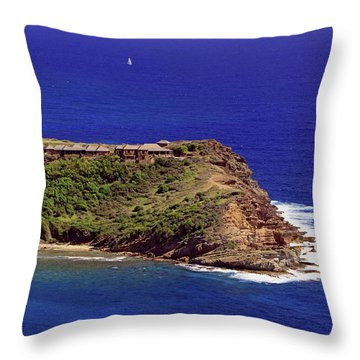 Throw Pillow featuring the photograph Standfast Point by Tony Murtagh