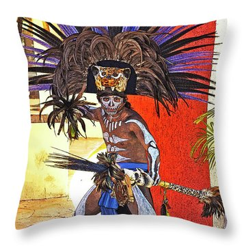 Standing His Ground Throw Pillow