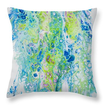 Standing In The Surf Throw Pillow