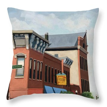Standing Tall -local City Buildings Throw Pillow