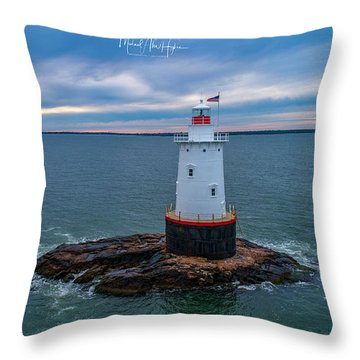 Throw Pillow featuring the photograph Standing Watch by Michael Hughes