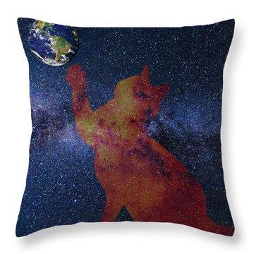 Star Cat Throw Pillow