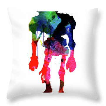Star Droid Watercolor 1 Throw Pillow