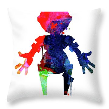 Star Droid Watercolor 4 Throw Pillow