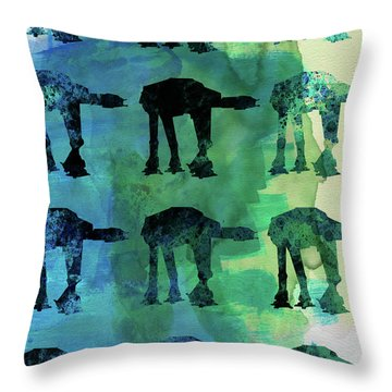 Star Ground Warrior Collage Watercolor 1 Throw Pillow