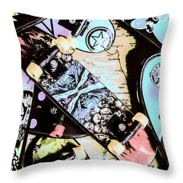 Star Skaters Throw Pillow