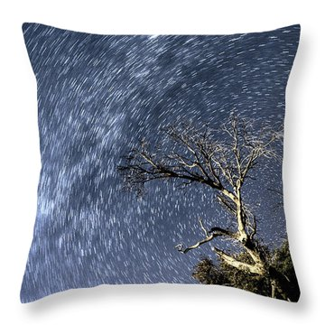 Star Trail Wonder Throw Pillow