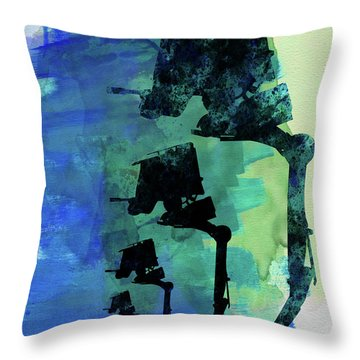 Star Warrior At-st Watercolor Throw Pillow