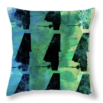 Star Warrior Collage Throw Pillow