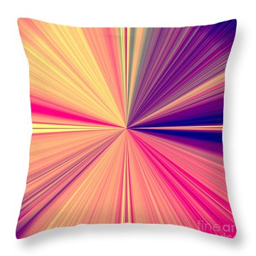 Starburst Light Beams In Abstract Design - Plb457 Throw Pillow