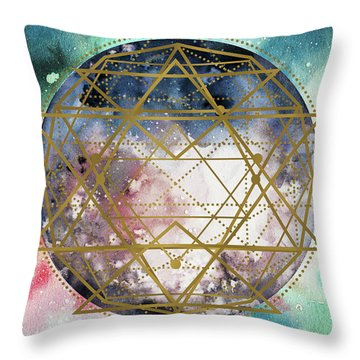 Throw Pillow featuring the digital art Starchild by Bee-Bee Deigner