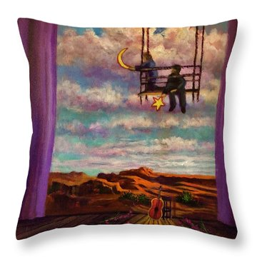 Starry Day Throw Pillow