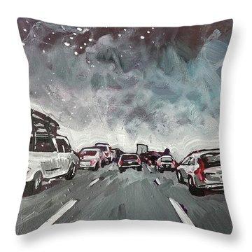 Starry Night Traffic Throw Pillow