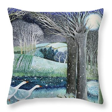 Starry River Throw Pillow