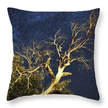 Stars Light Up Arizona Sky Throw Pillow