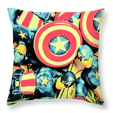 Stars Of Freedom Fighters Throw Pillow