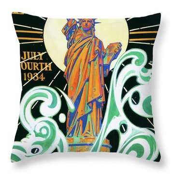Statue Of Liberty - Digital Remastered Edition Throw Pillow