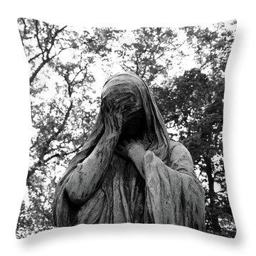 Statue, Regret Throw Pillow