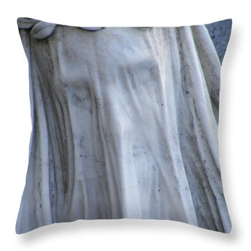Throw Pillow featuring the photograph Statue, Remorse  by Edward Lee