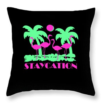 Throw Pillow featuring the digital art Staycation by Flippin Sweet Gear