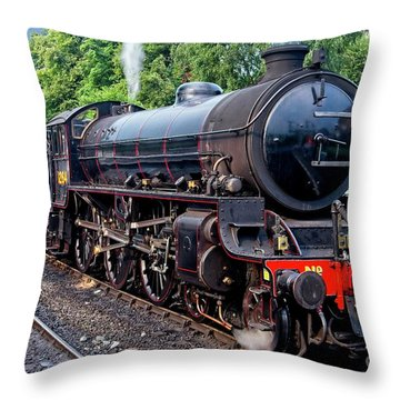 Steam Locomotive 1264 Nymr Throw Pillow