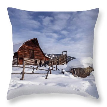 Steamboat Springs Throw Pillow