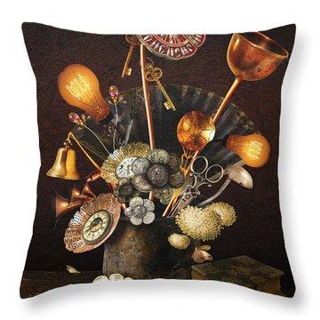 Steampunk Bouquet Throw Pillow