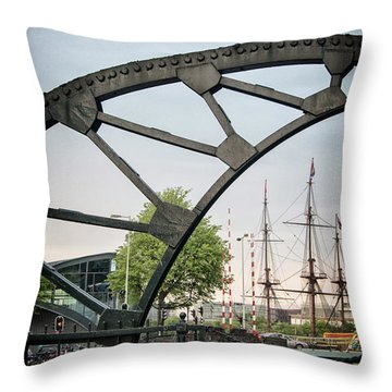 Steel And The Golden Age Throw Pillow