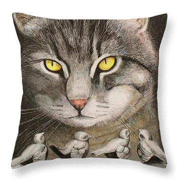 Steel Birds Throw Pillow